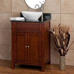 Powder room vanity - 24