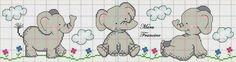 Baby Cross Stitch Patterns, Cross Stitch Baby, Cross Stitch Alphabet, Cross Stitching, Cross Stitch Embroidery, Hand Embroidery, Cross Stitch Boards, Cross Stitch Bookmarks, Elephant Cross Stitch