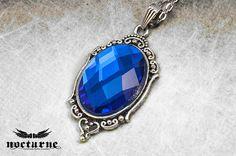 Royal Blue Ornate Pendant by Nocturne