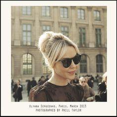 Ulyana Sergeenko. Ulyana wearing Ulyana Sergeenko lace dress in Paris. #UlyanaSergeenko