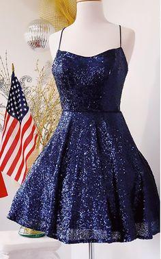 May 2020 - Spaghetti Straps Sequin Mini Prom Homecoming Dress Cute Prom Dresses, Grad Dresses, Dance Dresses, Pretty Dresses, Homecoming Dresses, Beautiful Dresses, Formal Dresses, Dresses Dresses, Dress Prom