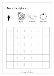 Alphabet Tracing Worksheet - Alphabet Tracing Sheets - Small Letter t Small Alphabet Letters, Alphabet Writing Practice, Alphabet Book, Alphabet Tracing Worksheets, Tracing Letters, Prewriting Skills, Small Alphabets, Tracing Sheets, Preschool Writing