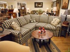 Relax in your home with comfortable country couches.