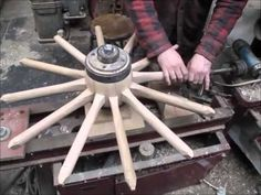 wooden wheel making .wheelwrights. - YouTube