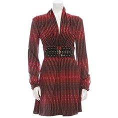 Pre-owned Gucci Dress Python Belt featuring polyvore, fashion, clothing, dresses, none, sequin cocktail dresses, short red dress, short dresses, short sequin dress and red mini dress