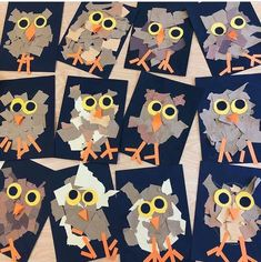 Nature Crafts 🦉🦉 Torn Paper Owls 🦉🦉 What a cute Fall/Nature craft idea! Owl Crafts Preschool, Preschool Art Projects, Animal Art Projects, Fall Art Projects, Projects For Kids, Toddler Art, Toddler Crafts, Forest Animal Crafts, Forest Animals