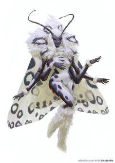 Moth Fairy, Alessandro Poli on ArtStation at https://www.artstation.com/artwork/AyzZX