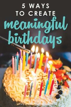 Looking for easy celebration ideas? Birthdays don't need to cost money or be Pinterest perfect. Here are 5 simple ways to create meaningful birthdays! #birthdays #birthdaytraditions #meaningfulmemories #makingmemories #family #celebrations It's Your Birthday, Girl Birthday, Birthday Gifts, Birthday Parties, Birthday Celebrations, Birthday Ideas, Mom Birthday Cakes, Birthday Traditions, Fun Activities For Kids