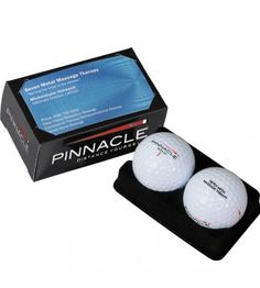 Pinnacle 2 ball business card box.  We love these for impressive client gifts and sales calls. #golf giveaways #tradeshow giveaways
