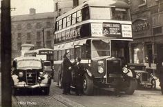 One if Dublin's first double deckers as seen on D'Olier Street in the late b/w photo Colourised by Pearse. Ireland Pictures, Old Pictures, Old Photos, Dublin Street, Dublin City, Photography Essentials, City Photography, Dublin Ireland, Ireland Travel