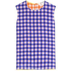 Diane von Furstenberg Plaid Sleeveless Silk Blouse ($210) ❤ liked on Polyvore featuring tops, blouses, multicoloured, purple blouse, plaid top, sleeveless blouse, diane von furstenberg tops and purple silk blouse