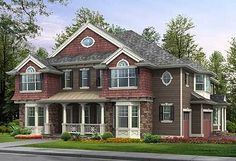 Plan Hidden Media Room with Kitchen and Deck Plan Front And Side Porches a Plus Deck Craftsman Style House Plans, Dream House Plans, House Floor Plans, Custom Home Designs, Bar Designs, Mountain House Plans, Hidden Rooms, Level Homes, Building A New Home
