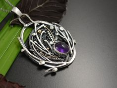 Metalsmith Joanna Watracz , who is of Polish heritage, creates wonderfully intricate wire jewelry and one of a kind designs. Her ster. Long Silver Necklace, Long Chain Necklace, Wire Wrapped Necklace, Silver Jewelry, Silver Ring, 925 Silver, Pendant Necklace, Sterling Silver, Wire Jewelry Designs