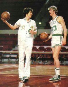 Pete Maravich and Larry Bird Celtics Basketball, Basketball Legends, Sports Basketball, Basketball Players, Basketball Stuff, Rose Nba, Sports Stars, Sports Pics, Sports Memes
