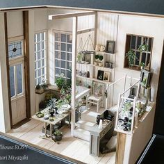 dollhouse miniature patio