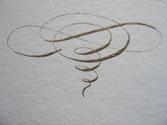 Calligraphic flourish hand drawn by Jane Farr.