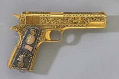 Fidel Castro's golden gun - Castro's elaborate Colt handgun was gold-plated by…