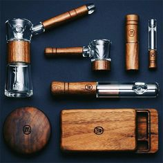 The Marley Natural Collection. This Is How Bob Rolls. Sustainable black walnut wood and blown glass smoking accessories. Weed Pipes, Pipes And Bongs, Medical Marijuana, Cool Lighters, Cigars And Whiskey, Smoking Weed, Pipe Smoking, Smoking Accessories, Funky Decor