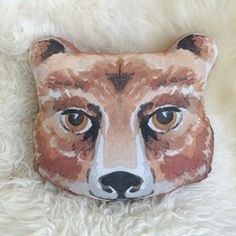 Bear Head Pillow by WonderfulCollective on Etsy