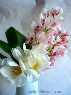 pink orchids for 14th Anniversary flowers.