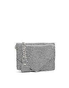 ASOS - Sac porté épaule aspect croco avec petite bandoulière chaîne