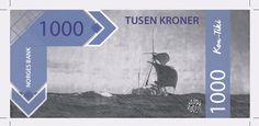 Eksamensoppgave:  Utform en seddelserie for Norges Bank som skal ta utgångspunkt i norsk historie.