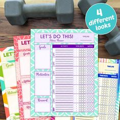 Fitness Workout Planner for Exercise Schedule Printable | Etsy Workout Planner, Fitness Planner, Fitness Goals, Schedule Printable, Printable Workouts, Home Gym Decor, At Home Gym, Fun Workouts, At Home Workouts