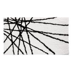 InterDesign Microfiber Abstract Bathroom Shower Accent Rug 34 x 21 BlackWhite * Click image to review more details.-It is an affiliate link to Amazon. #AreaRugsRunnersPads