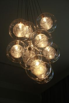 """Breath"" glass sphere lighting by Shakuff. Love the floating bubbles! http://www.shakuff.com"