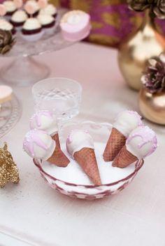 adorable ice cream cone cake pops - sweet & saucy shop
