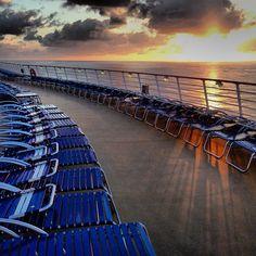 Sunset on Allure of the Seas.