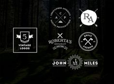 Check out 5 Vintage Logos by DesignLux on Creative Market