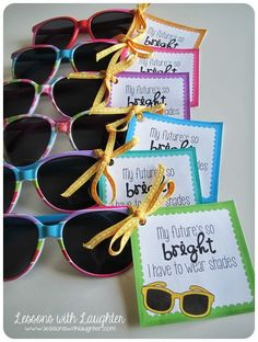 End of the Year Gifts: My future's so bright I have to wear shades.. this is cute. :)