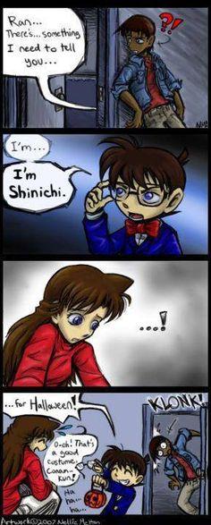 Heiji, Conan and Ran