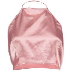 Boohoo Steph Satin Halter Crop Top | Boohoo ($14) ❤ liked on Polyvore featuring tops, shirts, sleeveless, halter-neck tops, red sleeveless top, halter tops, satin crop tops and sleeveless shirts