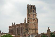 Albi cathedral de santa cecilia, ciudad donde nació toulose-lautrec