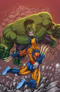 #Hulk #Fan #Art. (Hulk vs Wolverine) By: Dmnoced2. (THE * 5 * STÅR * ÅWARD * OF * MAJOR ÅWESOMENESS!!!™)