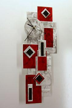 Original Modern Metal Art Wall Decor Clock by MetalSculptureCity