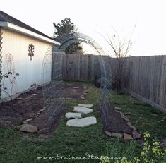 credit: trains and tutus diy arbor for climbing plants - cattle wire