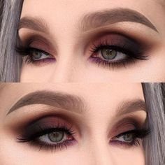 7 Ways to Spice Up Your Smokey Eye A smokey eye is one of the most classic make-up looks. At one time, women usually reserved their smokey eye looks for special occasions. Smokey Eyes are now a very popular eye make-up. The smoky eye […] Eye Makeup Glitter, Prom Makeup, Fall Makeup, Blue Makeup, Maroon Makeup, Formal Eye Makeup, Vegas Makeup, Wedding Makeup, 80s Makeup