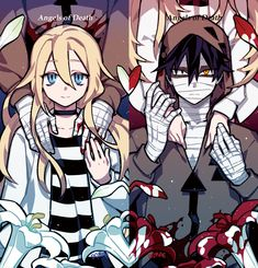 puras imágenes de satsuriku no tenshi (殺戮の天使) y sus personajes # De Todo # amreading # books # wattpad Anime Art Girl, Anime Guys, Manga Anime, Angel Of Death, Death Pics, Death Aesthetic, Pink Ocean, Ange Demon, Satsuriku No Tenshi