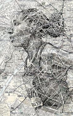 With the invent of GPS technology and map applications, paper maps are waning in use – but they are an essential material to English artist Ed Fairburn, who uses them as the canvas of his det…