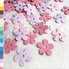 400 Wedding Favor Plantable Paper Flower Seed Daisy Confetti