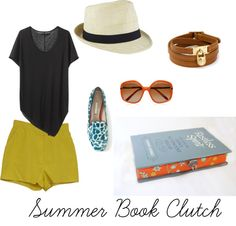 """""""Summer Book Clutch"""" by ruby-findley on Polyvore"""