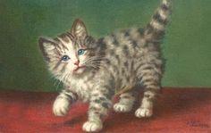 Ilustraciones antiguas de gatos.