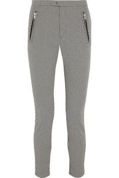 Étoile Isabel Marant - Rhett Houndstooth Cotton-blend Skinny Pants - Gray - FR44