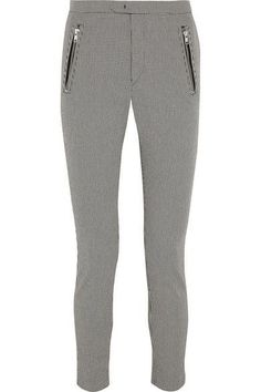 Étoile Isabel Marant - Rhett Houndstooth Cotton-blend Skinny Pants - Gray - FR44