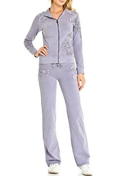 Women's Athletic Clothing Sets - Vertigo Paris Womens Jane Vintage Lounge Two Piece Jog Set >>> Be sure to check out this awesome product.