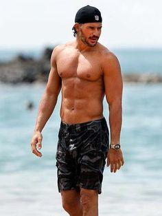 Joe Manganiello at the beach. Hello!