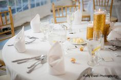 Simple + elegant: gold candle centerpieces | Rust Manor House in Northern VA | Kelly Ewell Photography